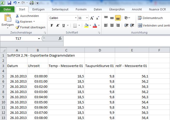 Erster Kurven-Block in Excel