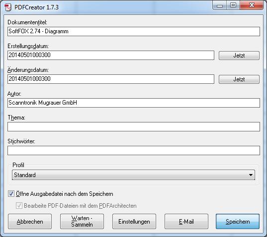 PDF speichern