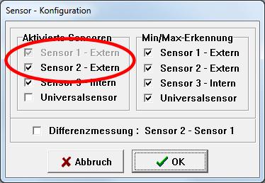 Sensor - Konfiguration